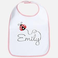 Ladybug Emily Bib