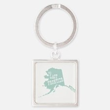 Made In Alaska Square Keychain