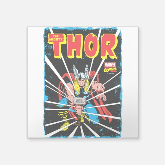 """The Mighty Thor Square Sticker 3"""" x 3"""""""