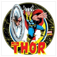The Mighty Thor Hammer Wall Art Poster