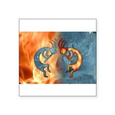 Kokopelli Fire & Ice (NEW) Rectangle Sticker