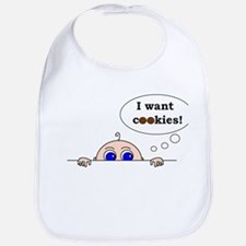 I want cookies! Bib