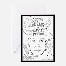 Screen Dreams of Buster Keaton Greeting Card