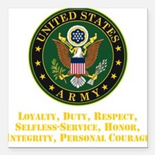 "U.S. Army Values Square Car Magnet 3"" x 3"""