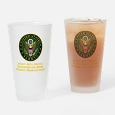 U.S. Army Values Drinking Glass