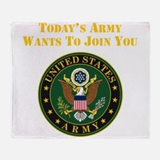 Todays Army Wants To Join You Throw Blanket