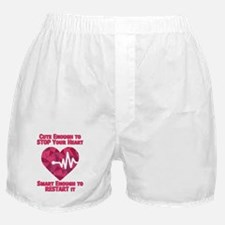 Cute Enough to Stop Your Heart Boxer Shorts