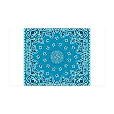 Turquoise Paisley Bandana Scarf Western Fabric Pri