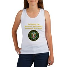 Duty First Army Saying Tank Top