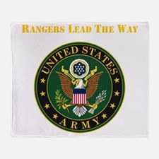 Army Rangers Lead The Way Throw Blanket
