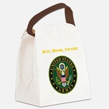 Duty Honor Country Army Canvas Lunch Bag