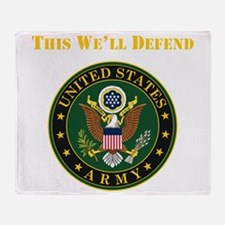 This Well Defend Army Throw Blanket