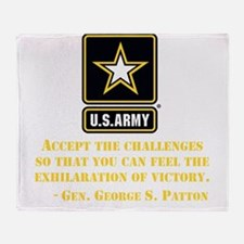 The Exhilaration Of Victory Quote Throw Blanket