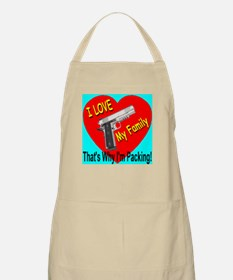 I Love My Family That's Why I BBQ Apron