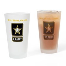 Duty Honor Country Army Drinking Glass