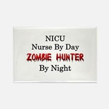 NICU Nurse/Zombie Hunter Rectangle Magnet