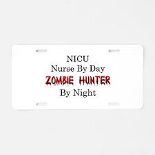 NICU Nurse/Zombie Hunter Aluminum License Plate