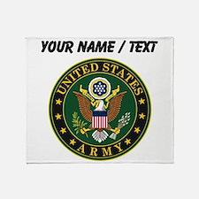 Custom U.S. Army Symbol Throw Blanket