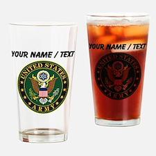 Custom U.S. Army Symbol Drinking Glass