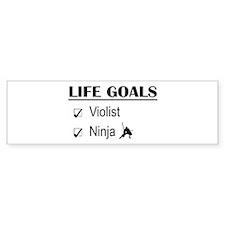 Violist Ninja Life Goals Bumper Sticker