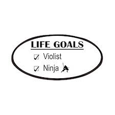 Violist Ninja Life Goals Patches