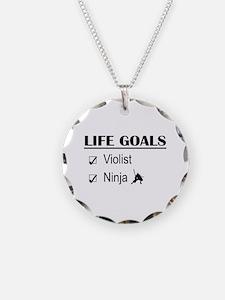 Violist Ninja Life Goals Necklace