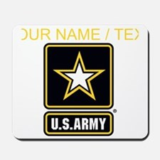 Custom U.S. Army Gold Star Logo Mousepad