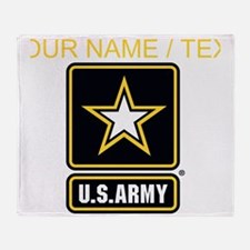 Custom U.S. Army Gold Star Logo Throw Blanket