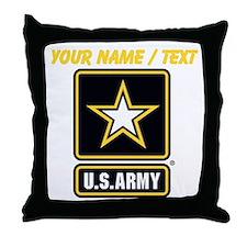Custom U.S. Army Gold Star Logo Throw Pillow
