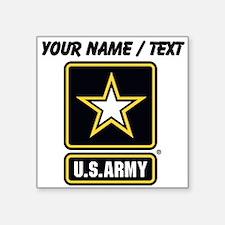 Custom U.S. Army Gold Star Logo Sticker