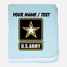 Custom U.S. Army Gold Star Logo baby blanket