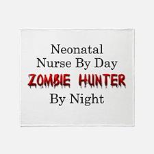 Neonatal Nurse/Zombie Hunter Throw Blanket