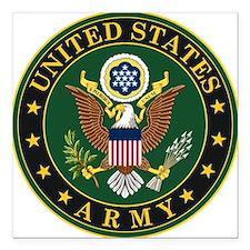 "U.S. Army Symbol Square Car Magnet 3"" x 3"""