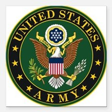 "U.S. Army Symbol Square Car Magnet 3"" x 3"""