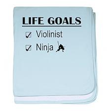 Violinist Ninja Life Goals baby blanket