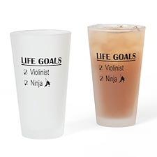Violinist Ninja Life Goals Drinking Glass