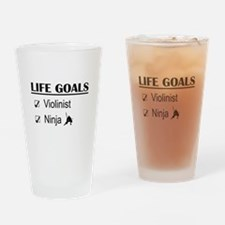Violinist Ninja Life Goals Drinking Glass