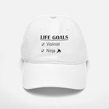 Violinist Ninja Life Goals Baseball Baseball Cap