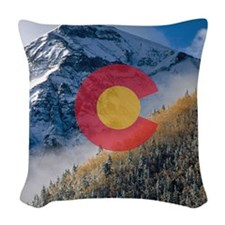 Colorado Mountain Tops Woven Throw Pillow