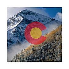 Colorado Mountain Tops Queen Duvet