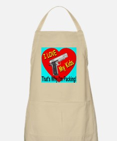 I Love My Kids That's Why I'm BBQ Apron