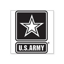 U.S. Army Black And White Star Logo Sticker