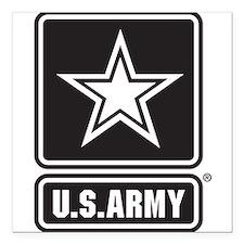 U.S. Army Black And White Star Logo Square Car Mag