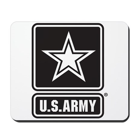 U.S. Army Black And White Star Logo Mousepad