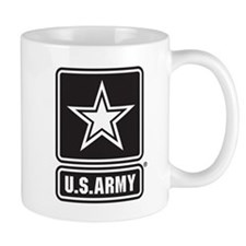 U.S. Army Black And White Star Logo Mugs