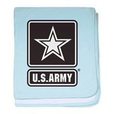 U.S. Army Black And White Star Logo baby blanket