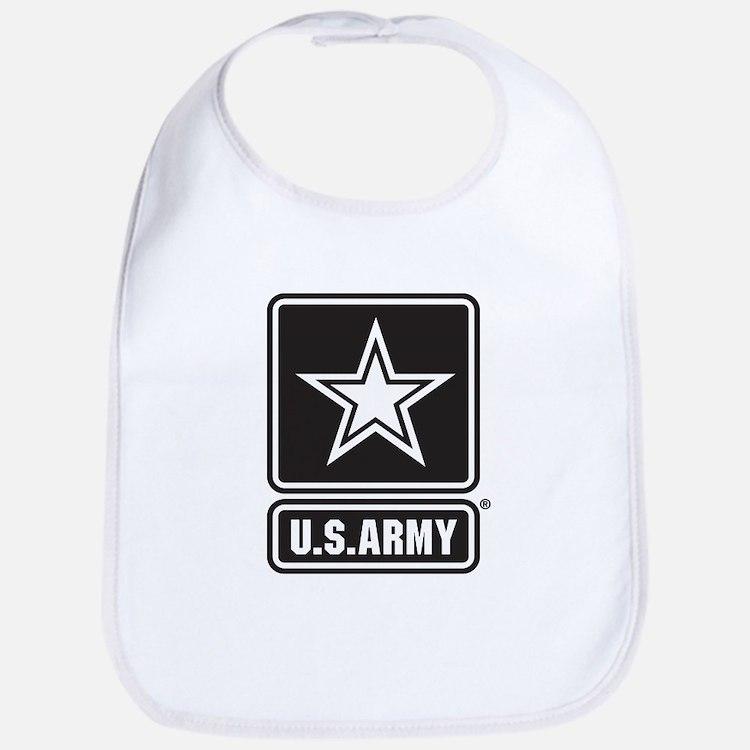 U.S. Army Black And White Star Logo Bib