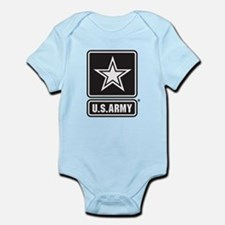U.S. Army Black And White Star Logo Body Suit