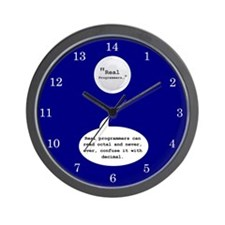 Real Programmers Octal Wall Clock (Blue)