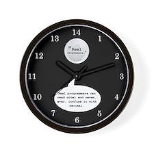 Real Programmers Octal Wall Clock (Black)